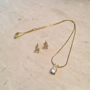 Yellow Gold Plated over Sterling Silver Set